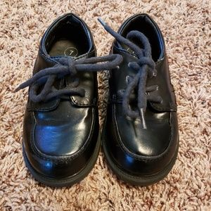 Toddler's Black Dress Shoes